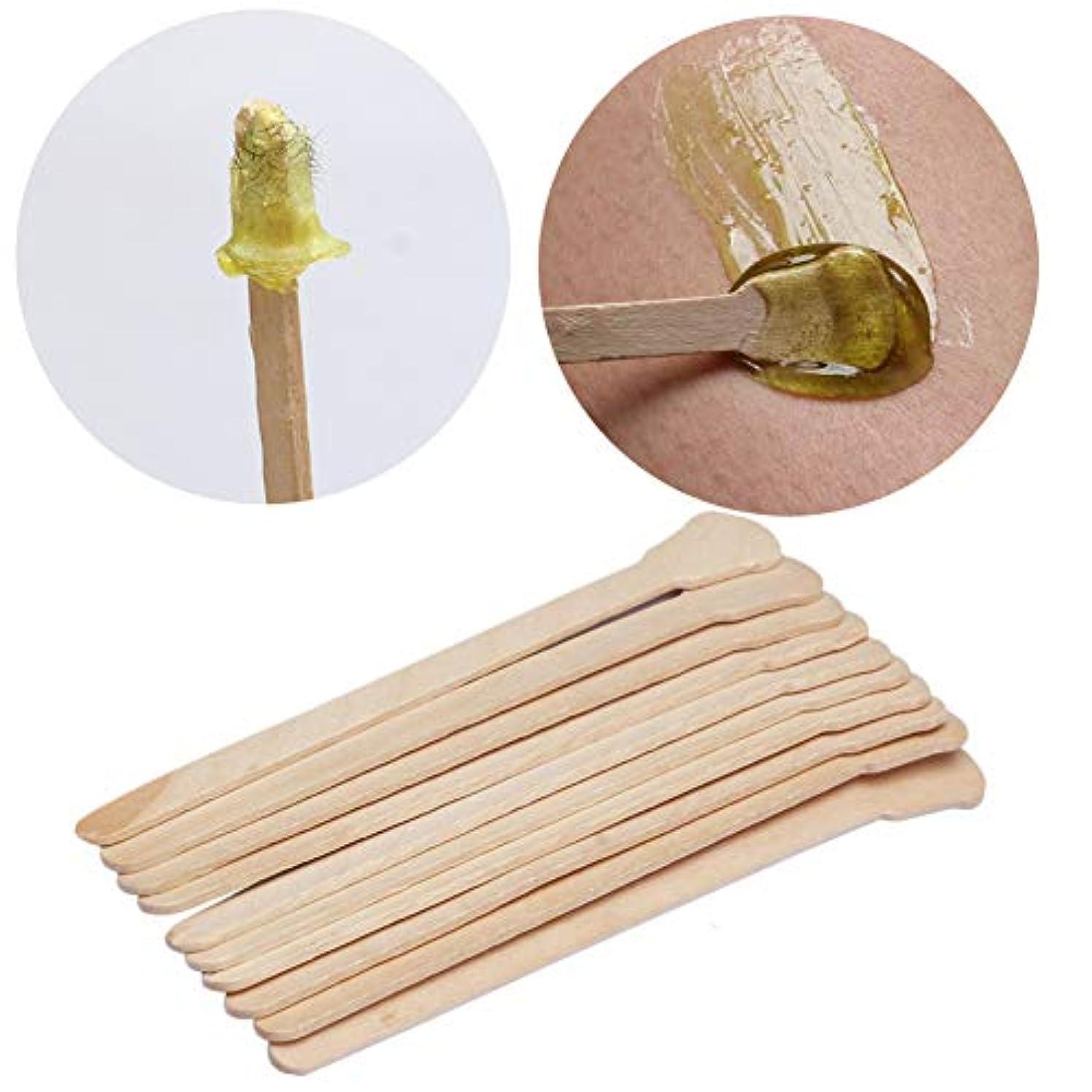 オーロック南東気分が良いKingsie 使い捨て スパチュラ 木製 50本セット 脱毛ワックス用 12.5cm アイススティック棒 化粧品 フェイスマスク、クリームなどをすくい取る際に ワックス脱毛