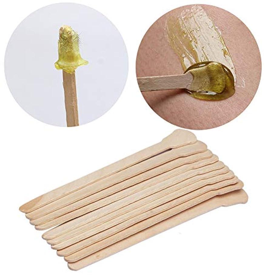 終点テレビ局展開するKingsie 使い捨て スパチュラ 木製 50本セット 脱毛ワックス用 12.5cm アイススティック棒 化粧品 フェイスマスク、クリームなどをすくい取る際に ワックス脱毛