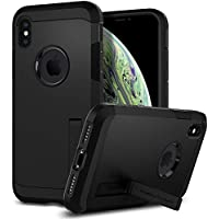 【Spigen】 スマホケース iPhone XS ケース/iPhone X ケース 5.8インチ 対応 耐衝撃 米軍MIL規格取得 スタンド機能 タフ・アーマー 057CS22160 (マット・ブラック)