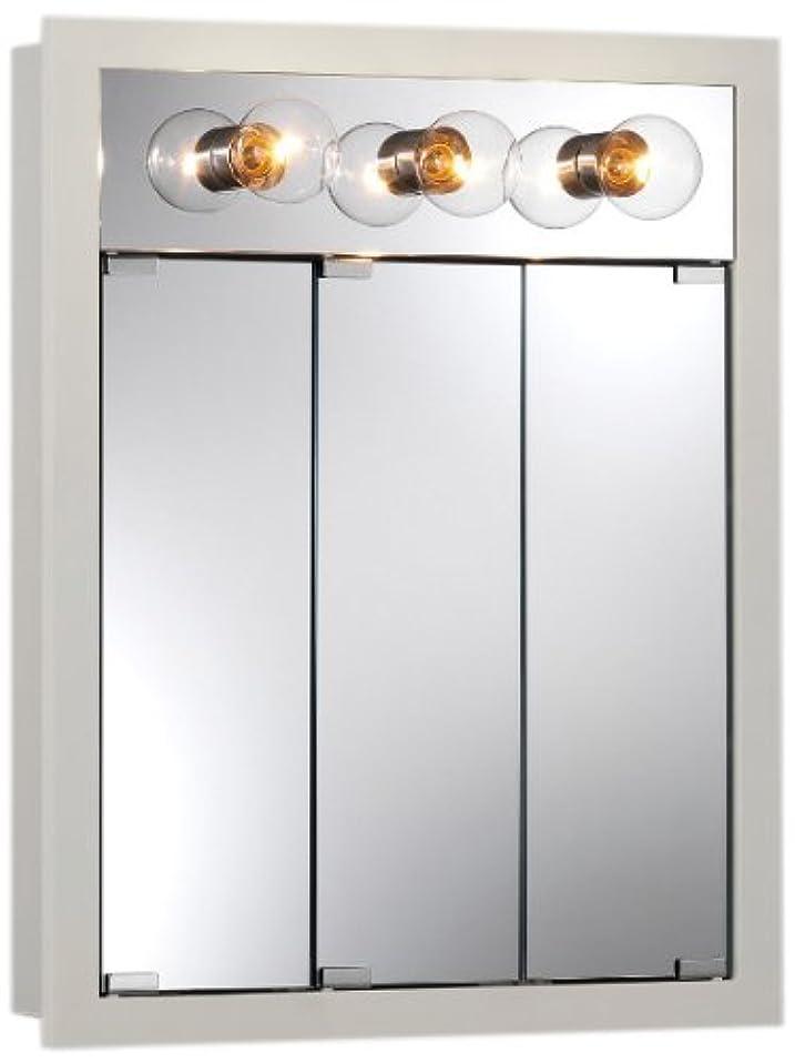 支払い予防接種する有名なJensen 755363 Granville Lighted Medicine Cabinet with 3つ電球、クラシックホワイト、24インチby 30-inch 4 – 3 / 4インチby