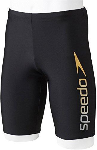 Speedo(スピード) メンズ フィットネス用 水着 スパッツ SD85S63 シルバー×ゴールド(VD) S
