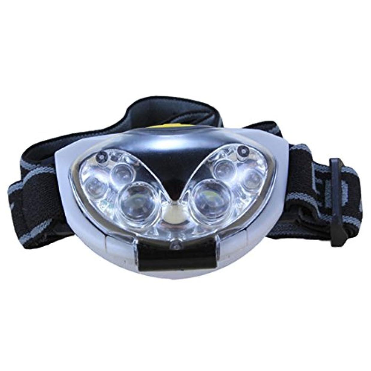 上飼い慣らす複数SODIAL 6 LED 防水ヘッドライトヘッドランプヘッドランプ - 3modi、3単4乾電池