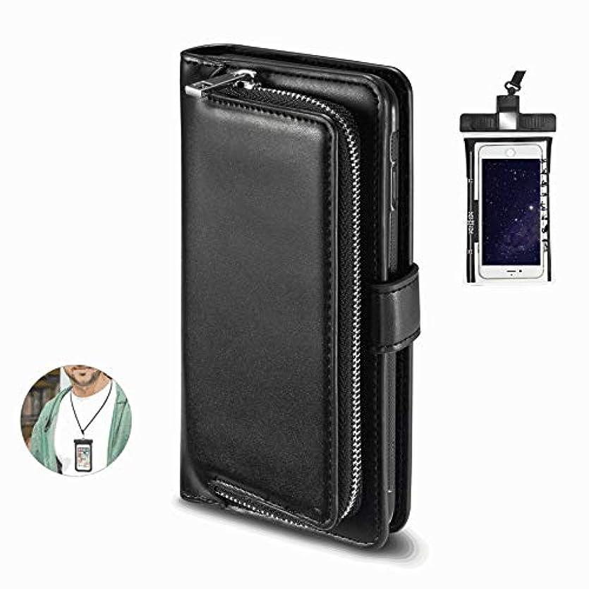 でる勝利陪審耐摩擦 手帳型 iPhone 11 Pro Max ケース アイフォン レザーケース 財布型 カード収納 マグネット式 保護ケース 軽量 スマホケース スマートフォンケース 全面保護 [無料付防水ポーチ水泳など適用]