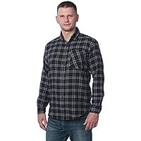 Beverly Rock Men's Flannel Shirt- Brushed Cotton Plaid Button Down Shirt