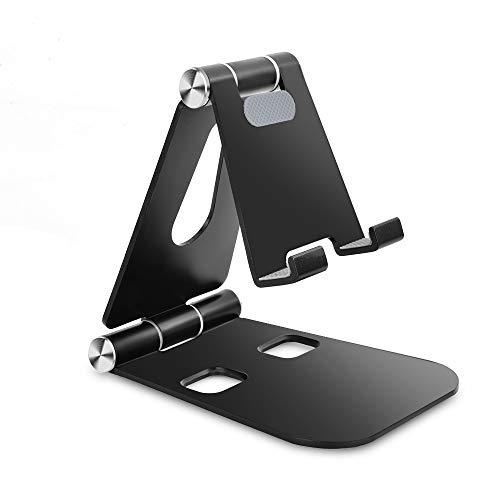 aceyoon スマホスタンド 卓上 折りたたみ式 角度調整可能 4~8インチ タブレットスタンド アルミ製 キズ防止スタンド コンパクト スマホホルダー 滑り止め Nintendo Switch 携帯電話 mini/Air/ Air2 X/XS/XR/XS Max/8/7/6 Xperia Nexus Samsung Galaxy 等スマホ タブレットに対応