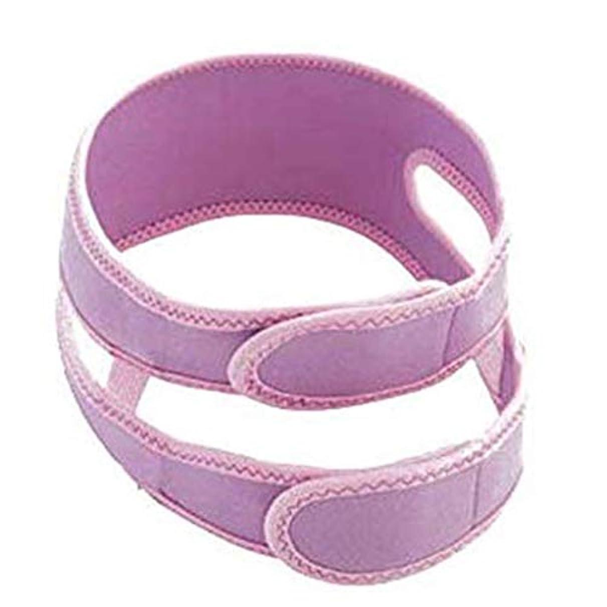 相互接続薬用枠HUYYA ファーミングストラップリフティングフェイスリフティング包帯、V字ベルト補正ベルト ダブルチンヘルスケアスキンケアチン,Purple_Large
