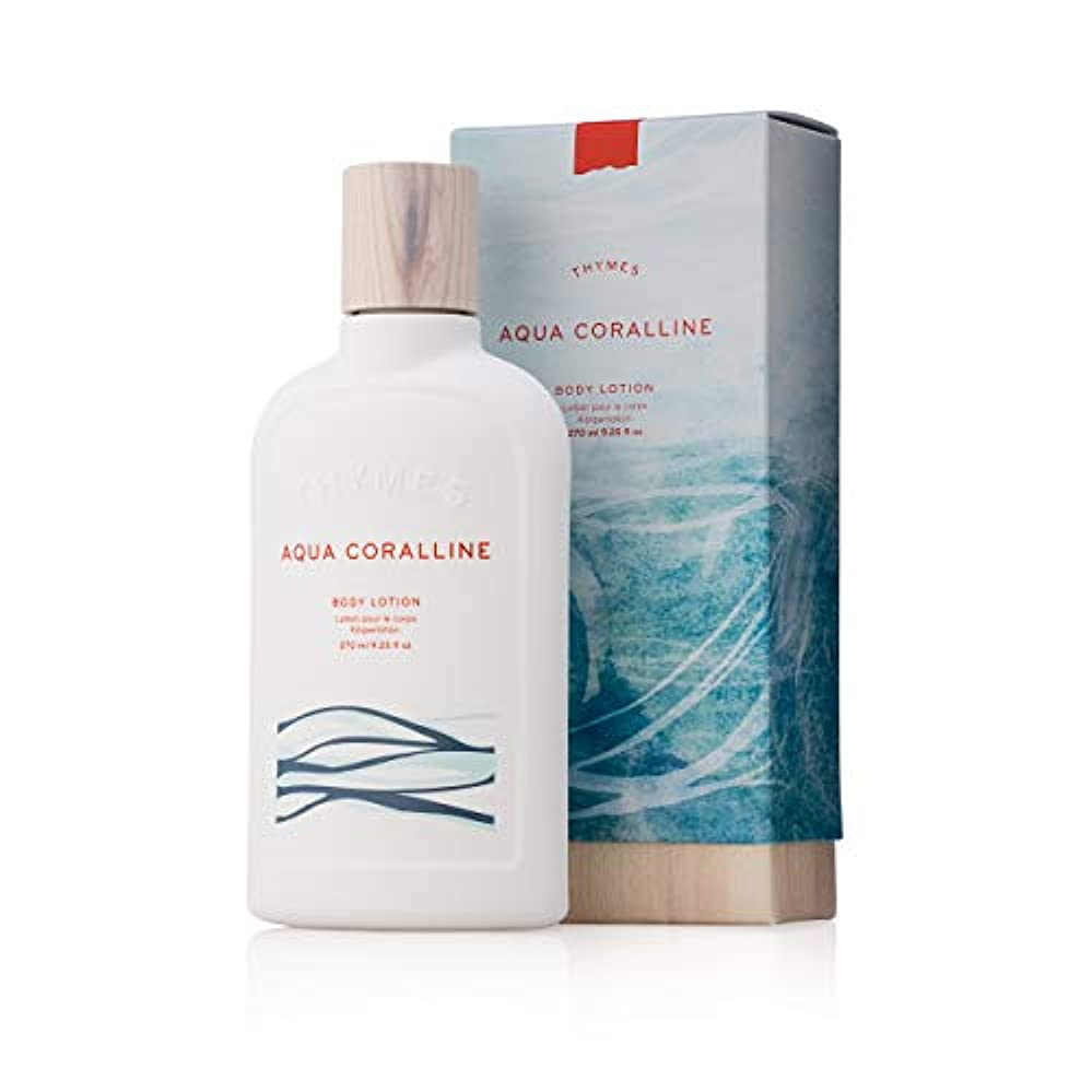 あえて外観合理的Thymes 637666041926 Aqua Coralline Body Lotion