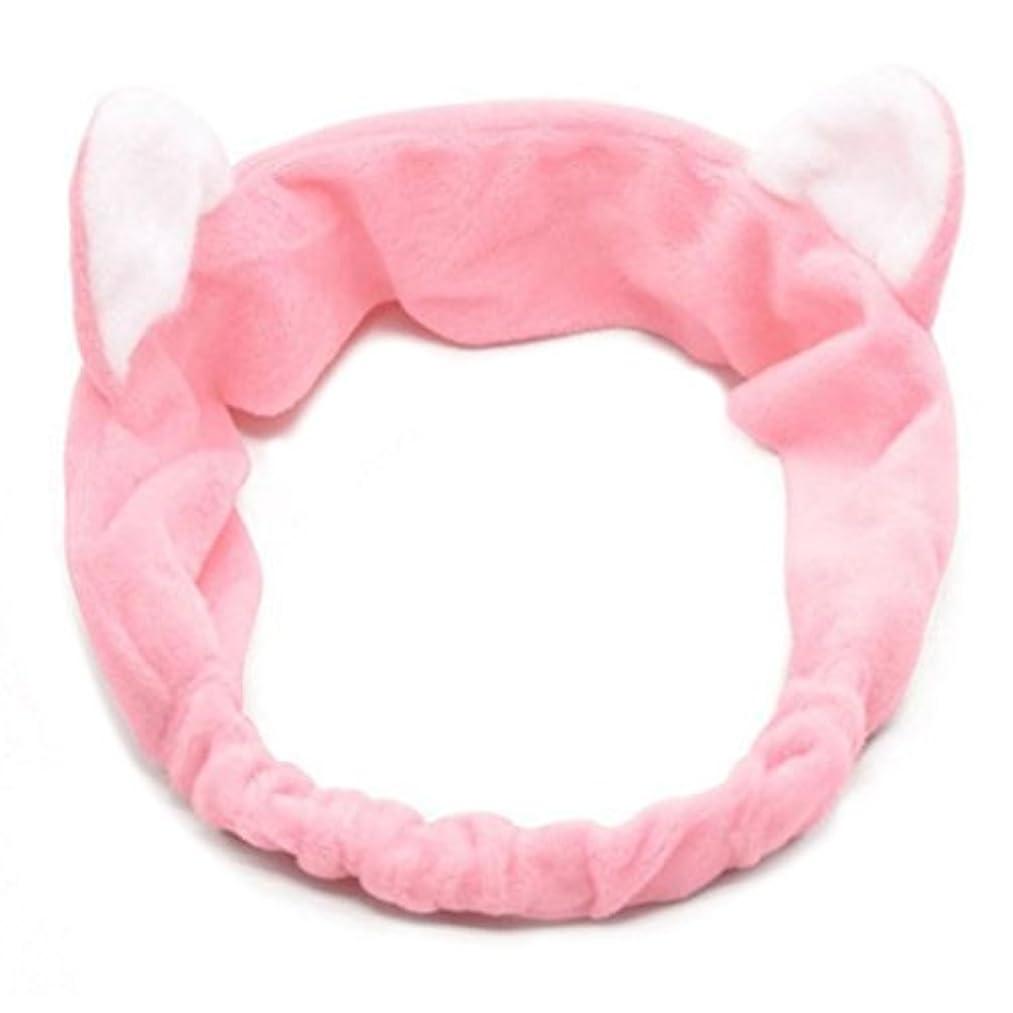 アーネストシャクルトンあたたかいふくろうSimpleLife化粧ヘッドバンド、かわいい猫の耳の髪のシャワーヘッド洗顔ヘアバンド弾性バンド