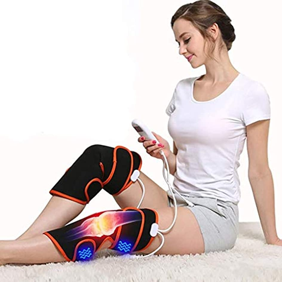 押す反響する突然レッグマッサージャー、膝用電熱パッド、9種類のマッサージモードと5種類の調整可能な温かい温熱療法