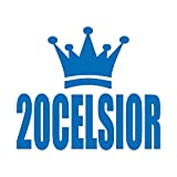 王冠 20セルシオ カッティング ステッカー ブルー 青