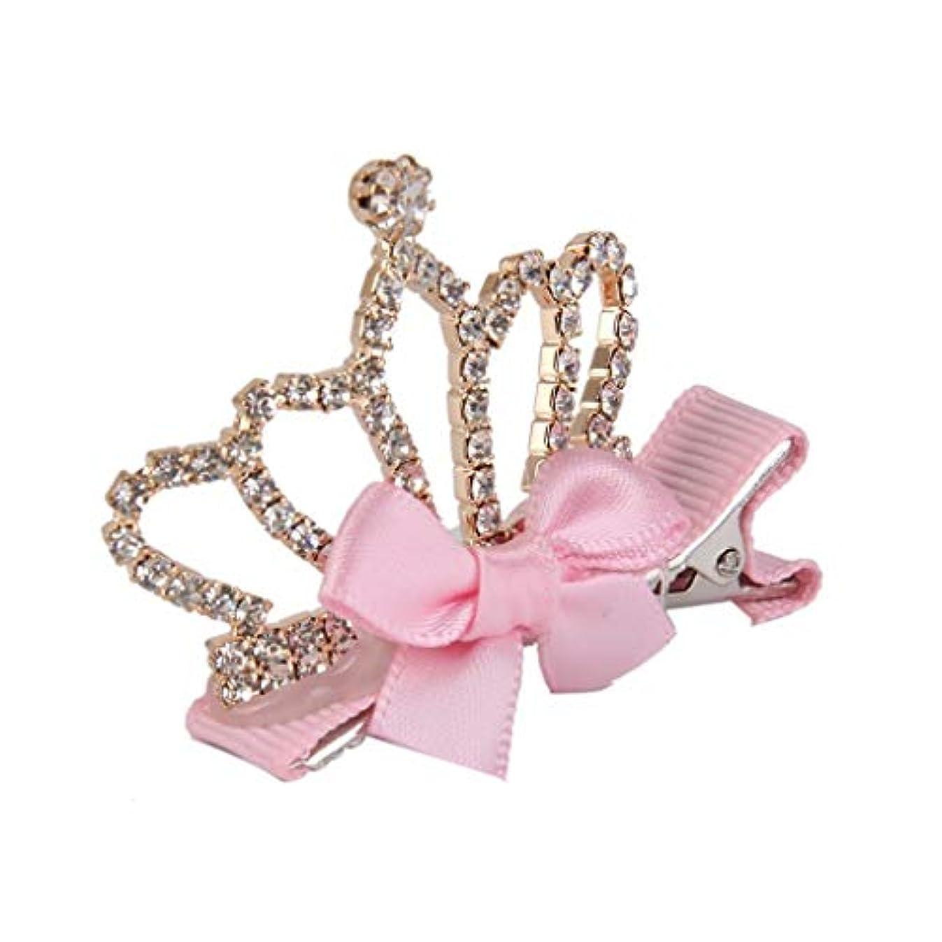 週末文献リストHPYOD HOME 女の子のためのかわいい王冠形のヘアクリップヘアクリップクリスマス誕生日プレゼント(ライトピンク)1pc