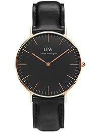 CLASSIC BLACK新品Daniel Wellington ダニエル ウェリントンSHEFFIELD レディース腕時計 クラッシー 本革  腕時計 ピンクゴールド 36mm [並行輸入品]