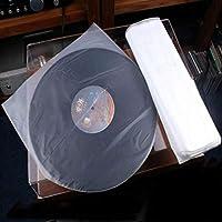 """AKOZLIN LP丸型内袋 厚み0.04mm (その他の製品厚み0.028)EP保護袋 12"""" 丸型内袋 レコード保護袋 升级 レコード袋 50枚セット ビニールレコードバッグ アップグレード版 厚口 静電防止素材入り LP 50枚 厚口"""