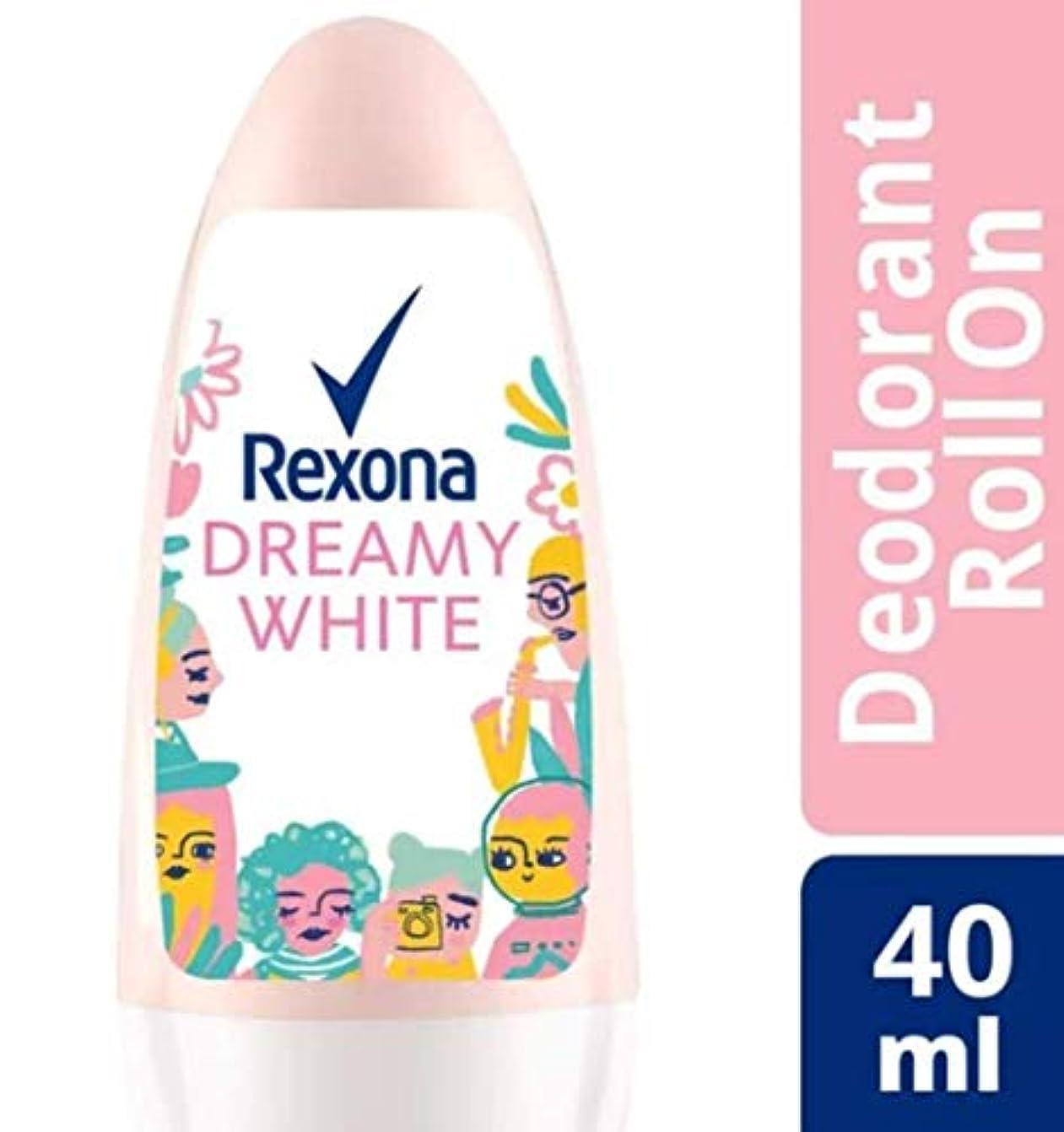 誤解させる流す工業用Rexona レクソナ woman 制汗 デオドラント ロールオン DREAMY WHITE【アルコール 0%】ソフトなユリの香り 40ml [並行輸入品]