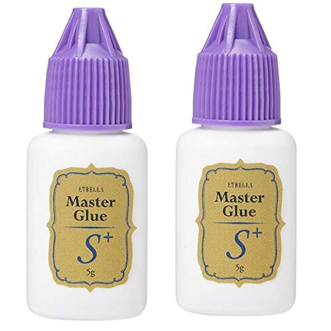 酸素閉じる効能エトゥベラ マスター S+タイプ グルー 5g (2個セット) [ まつ毛グルー マツエクグルー つけまつげ つけまつ毛 接着剤 高持続 速乾 まつげエクステ まつ毛エクステ マツエク エクステ まつげ まつ毛 業務用 ]