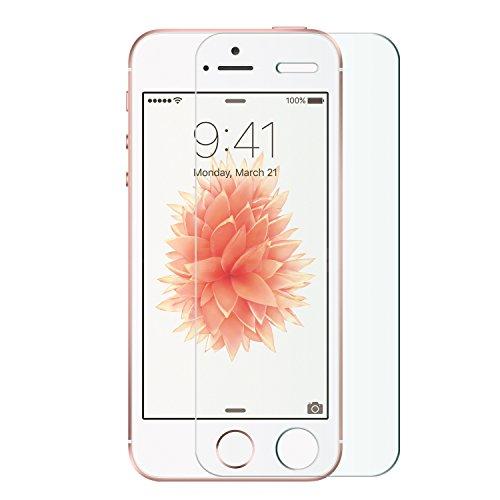 Nimaso 1枚入り / 2枚入り iPhone SE / iPhone 5S / iPhone5 / iPhone5c 専用 フィルム 日本旭硝子製 ガラスフィルム 強化ガラス 全面液晶保護フィルム 高鮮明・防爆裂・スクラッチ防止・気泡ゼロ等機能・硬度9H (4.0インチ For iPhone SE;1枚入り)