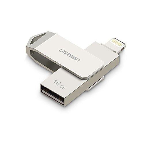 Ugreen iPhone USBメモリ 128GB ライトニング USBメモリフラッシュメモリ iPhone iPad iPod Mac用フラッシュドライブ MFi認証済み 容量不足解消 Lightning接続 USBメモリ