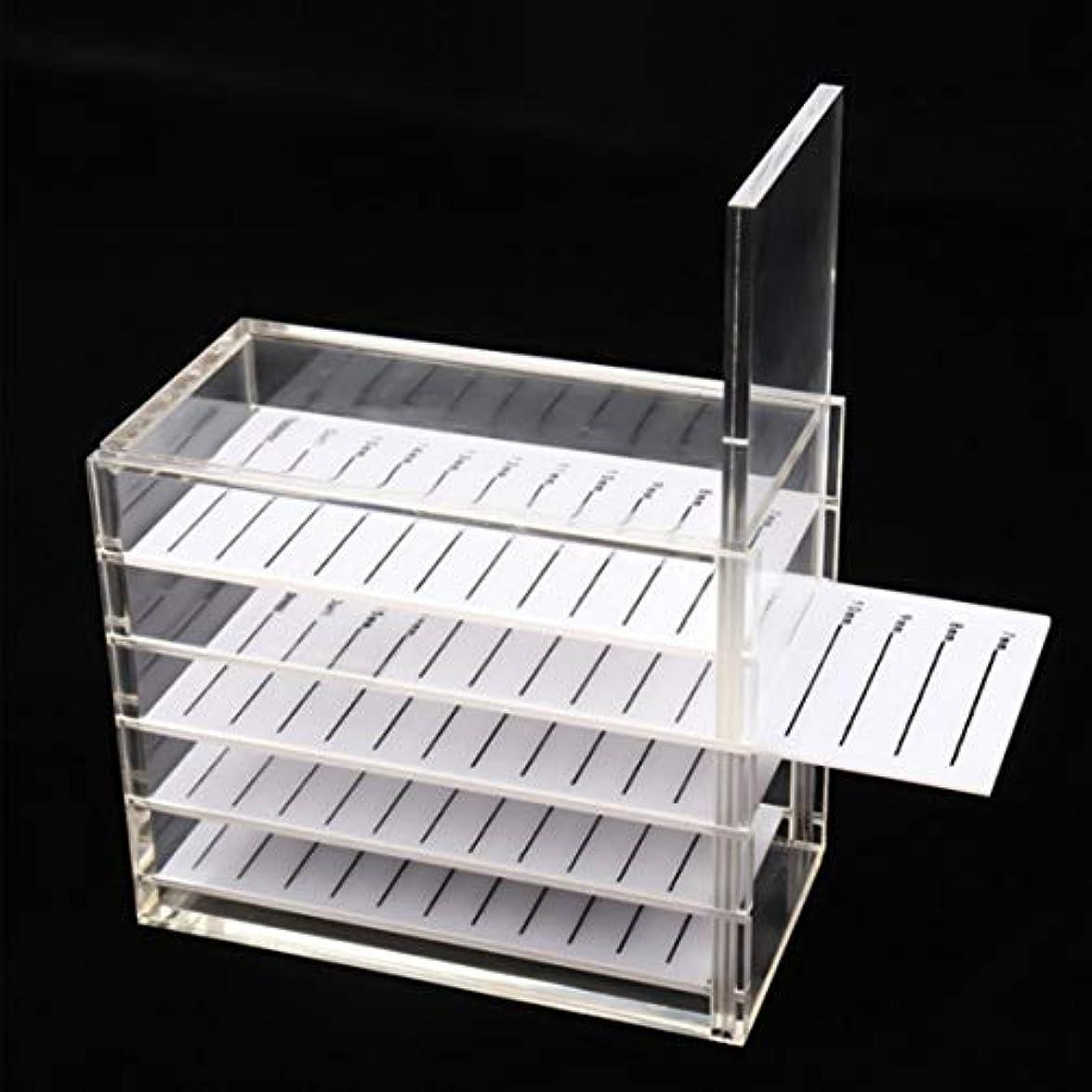 変装したすり古代Intercorey Graftingまつげ収納ボックス椿フラワーボックスアクリル日本語まつげディスプレイボード5層まつげディスプレイボード
