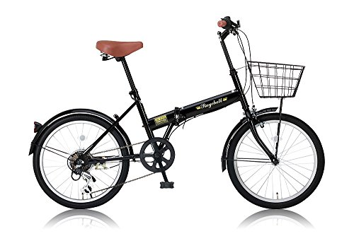Raychell(レイチェル) 20インチ 折りたたみ自転車 FB-206R シマノ6段変速 フロントLEDライト付 ブラック