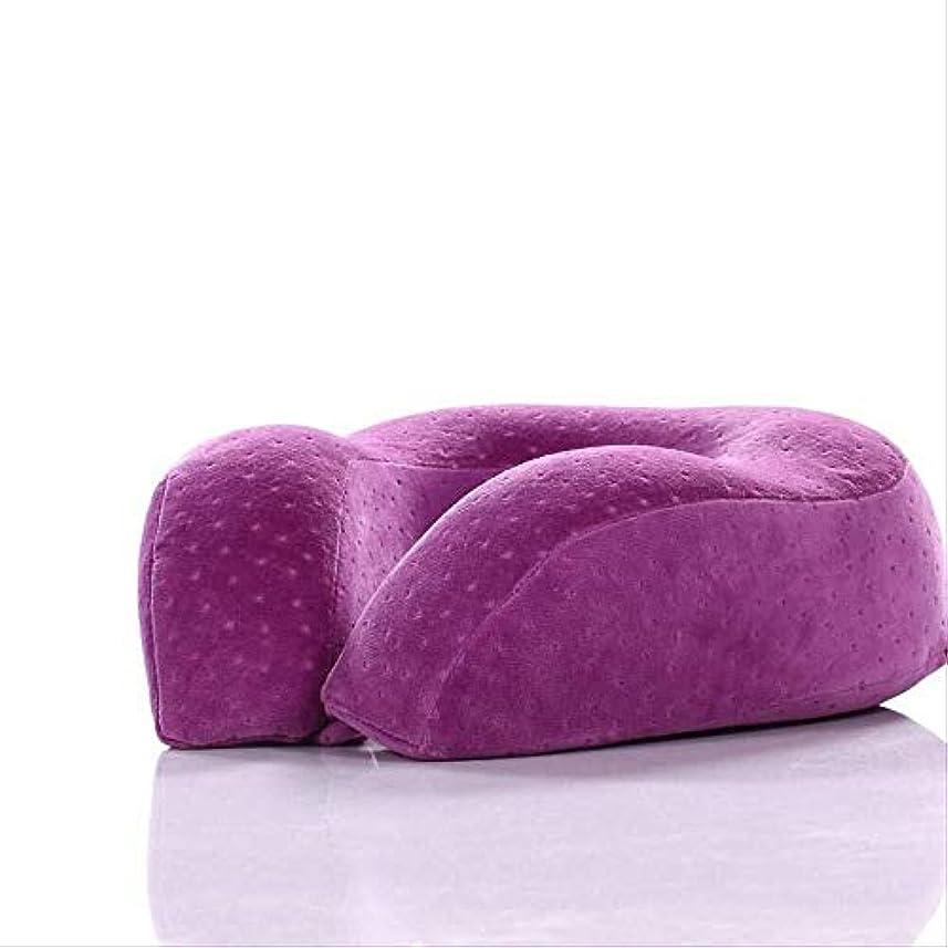 サイズ仮定する原理U字型枕枕メモリ綿遅いリバウンドU-枕高め肥厚子宮頸枕航空機トラベルネックピローネックピローU字型