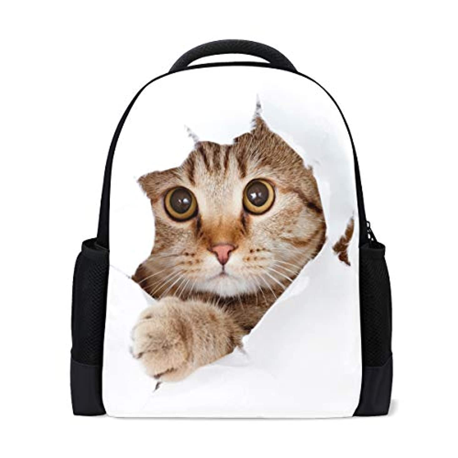 持続的宙返り剃るリュック レディース おしゃれ 軽量 a4 多機能 リュックサック メンズ 猫柄 大容量 通学 通勤 旅行 デイパック プレゼント対応