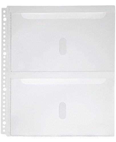 キングジム 取扱説明書ファイル用ポケット 2630PA A4S 30穴 2段 4枚