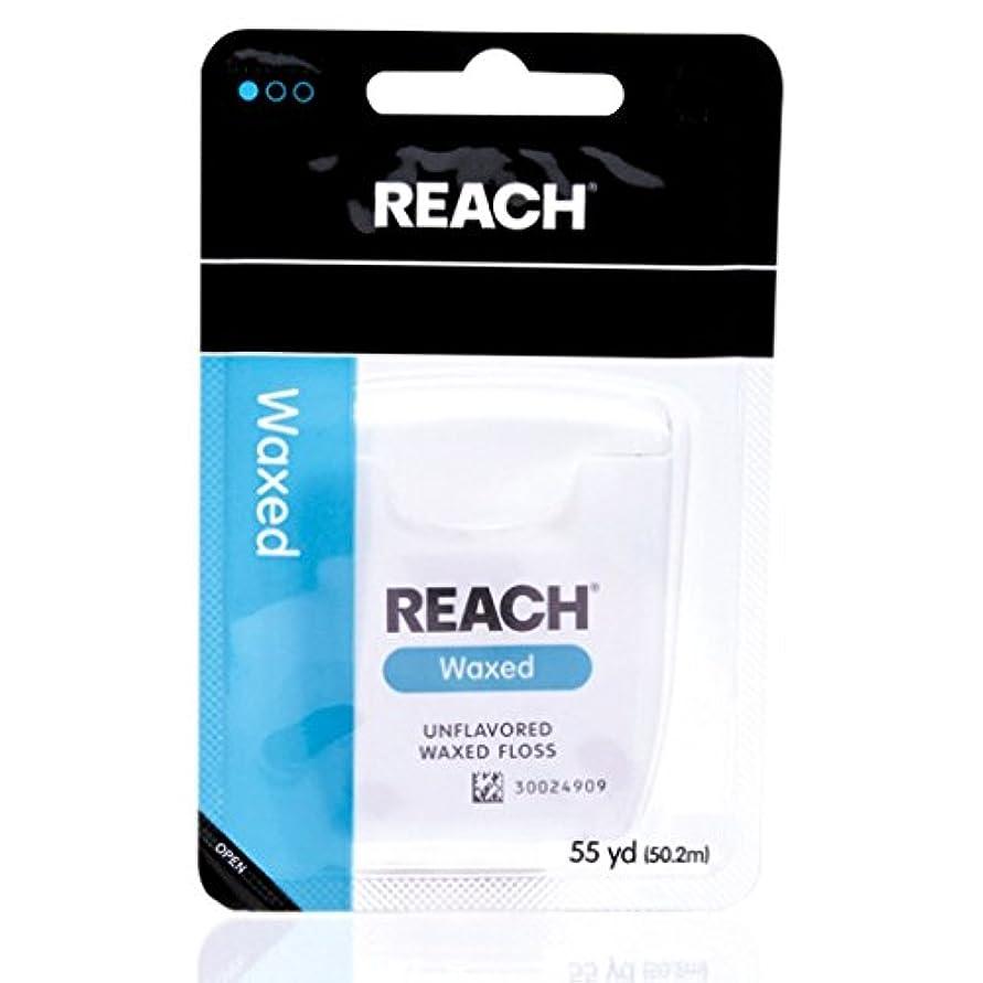 ズームインするラバ食物REACH リーチ デンタルフロス ワックス Waxed 50M [並行輸入品]