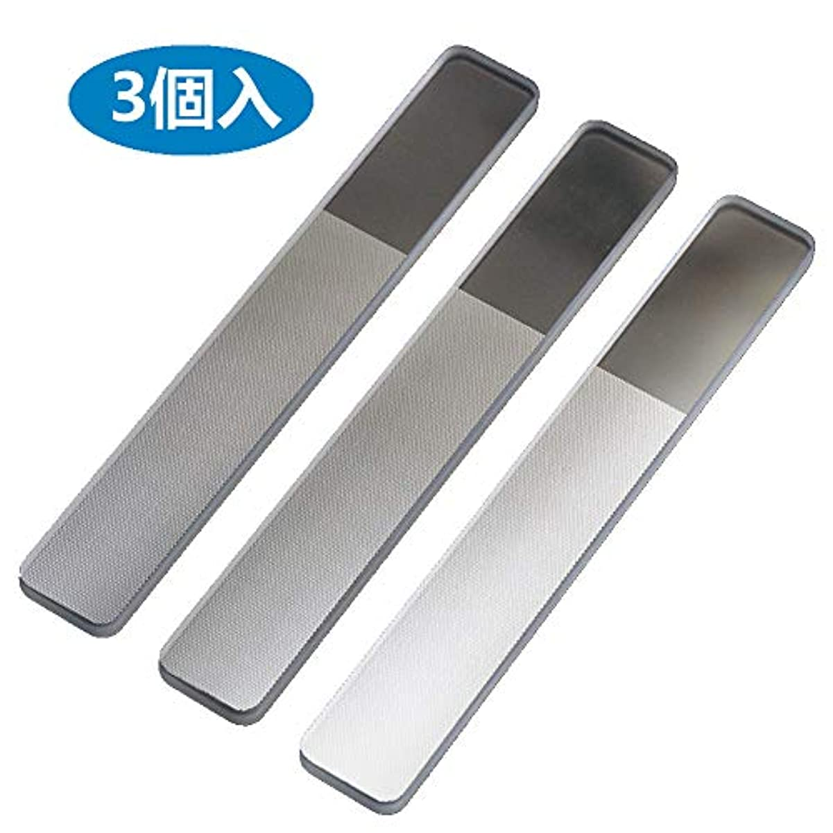 タンザニアウォーターフロントマニュアルMX 爪やすり 爪磨き ガラス製 (スタイル A 3個セット)