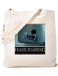CafePress – hand-washing-humor-infection-lg2 – ナチュラルキャンバストートバッグ、布ショッピングバッグ S ベージュ 1013925254DECC2
