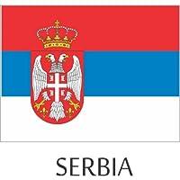 Serbia Flagヘルメットデカールステッカー