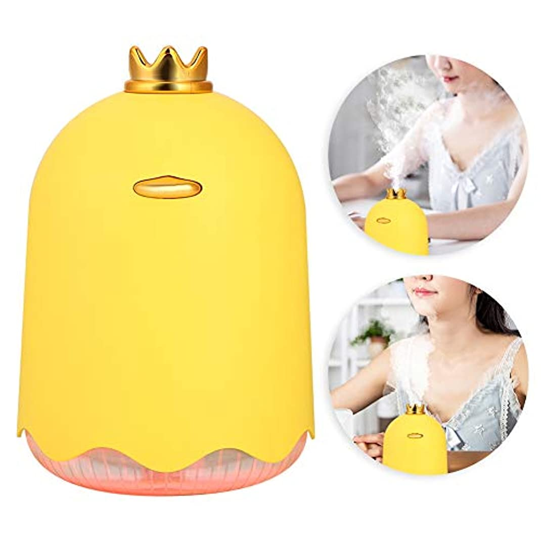 コーラスジョブ通知する車両家庭用加湿器、キュートファインミストスキン保湿加湿器250ml(黄色いアヒル)