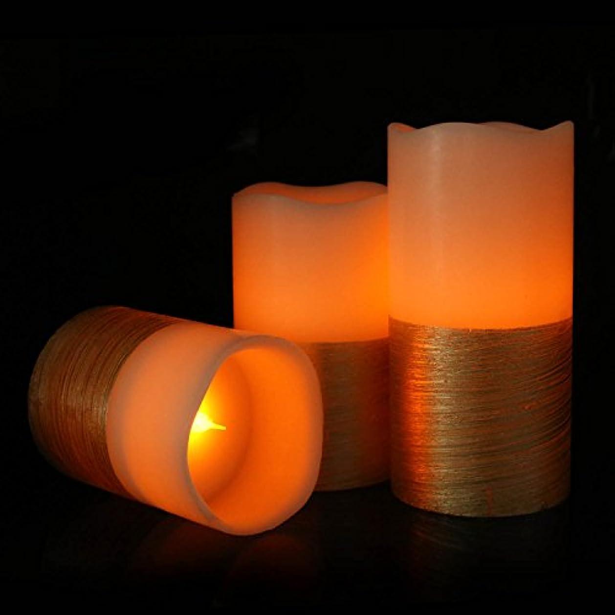 アブストラクトベイビー読むmicandleピラーFlameless Candles – Set of 3 RealオレンジワックスちらつきフレームレスキャンドルLEDピラーキャンドル、電池式 CDL34W49-zq