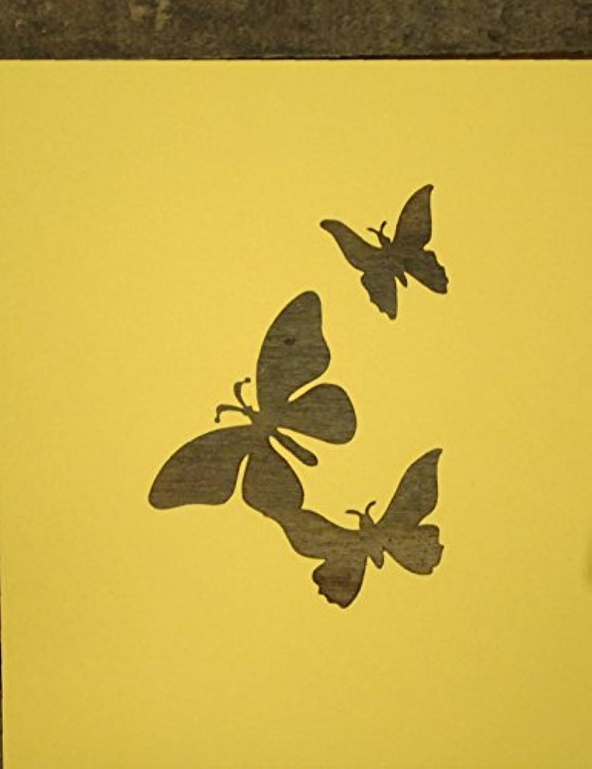 生活微生物鯨紙製 ステンシル シート 【3インチ】 蝶々 3匹 チョウ バタフライ