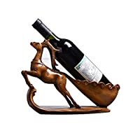 Chenglian ワインラック、クリエイティブホームニホンジカ鹿ワインラック現代ヨーロッパワインラックリビングルームの装飾ワインキャビネットの装飾 (色 : B)