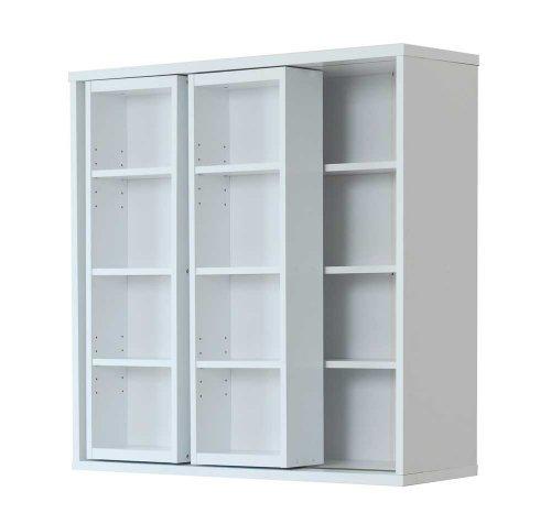 RoomClip商品情報 - Frama Furniture(フラマファニチャー) 低ホルムアルデヒド ダブルスライド書棚 ホワイト KSS-0007EWH
