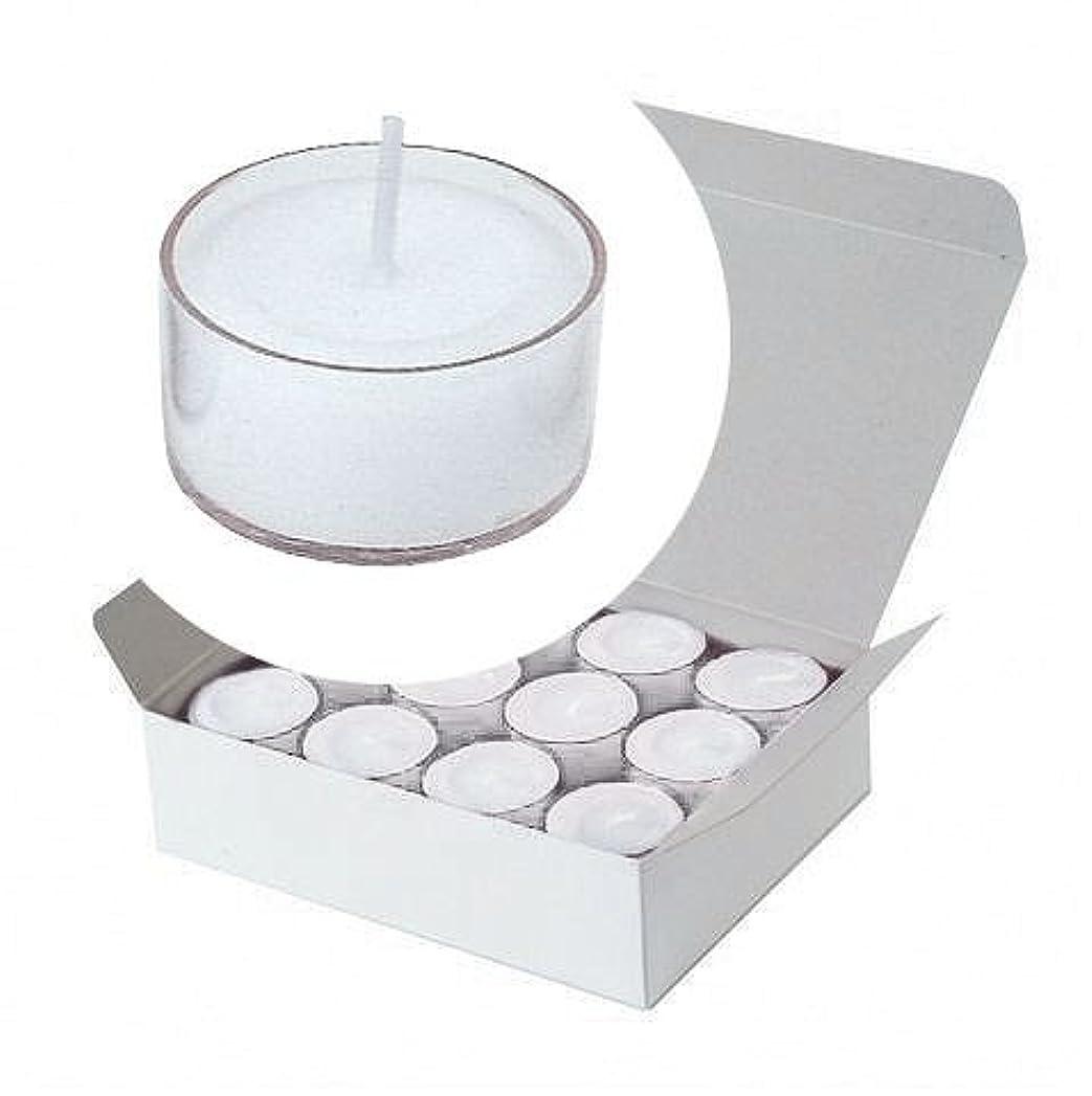 気をつけて凍った頂点カメヤマキャンドル(kameyama candle) クリアカップティーライト24個入り 「 クリア 」