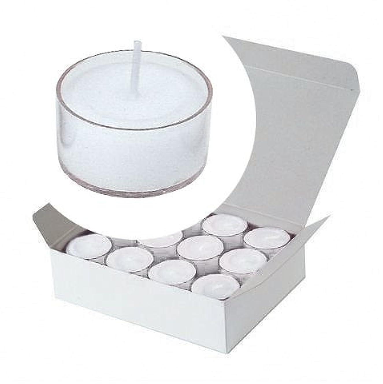 アナニバー瞑想的ハンサムカメヤマキャンドル(kameyama candle) クリアカップティーライト24個入り 「 クリア 」