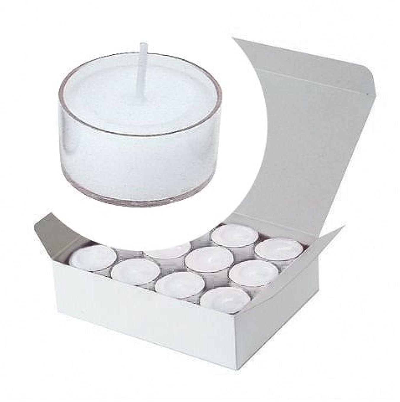破壊連結するアジアカメヤマキャンドル(kameyama candle) クリアカップティーライト24個入り 「 クリア 」