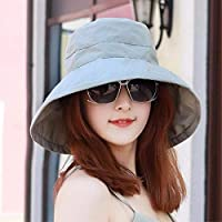 Women's Hat Ms Cap Visor Outdoor Cycling Sunshade Sun Hat Large Cap Fisherman Hat Beach Hat Spring Summer (Color : The Blue/B, Size : -)