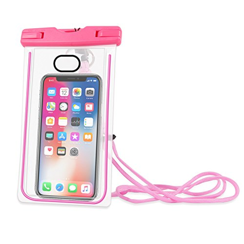 Imikoko 防水ケース 防水携帯ケース (防水規格) 防水カバー 入れたままタッチ操作 指紋認証(iPhone 7以降の機種でロック解除可) 夜間発光 対応機種: iPhone X/8/8 plus 7/7plus/6s/6/6plus, Samsung, Huawei, Sony その他6インチまでのスマートフォン 水中撮影 お風呂 海水浴 潜水 水泳 砂浜 水遊びなど適用