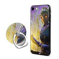 Greatayifong フォートナイト バトルロイヤル IPhone8 ケース リング付き Iphone7 ケース ストラップホール付き 落下防止 耐衝撃 アイフォン 7/8 ケース透明 TPUシリコン 軽量 薄型 携帯カバー かわいい