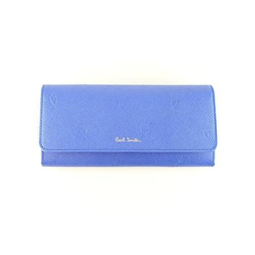 ポールスミス 財布 レディース かぶせ長財布 スミシーハート PWU805 ブルー pauls511