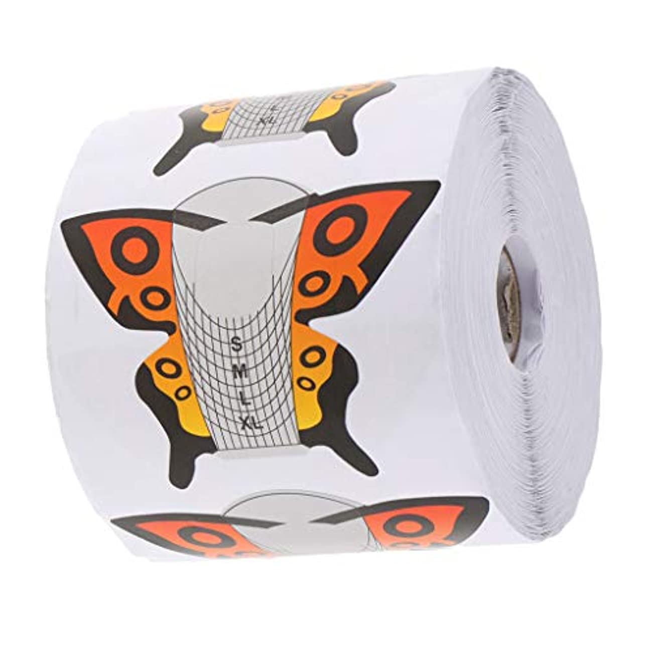 講堂エスカレート売り手Toygogo ネイルアートチップのフォームネイルエクステンションガイドステッカーポリッシュDIYステンシルキット - 約500枚