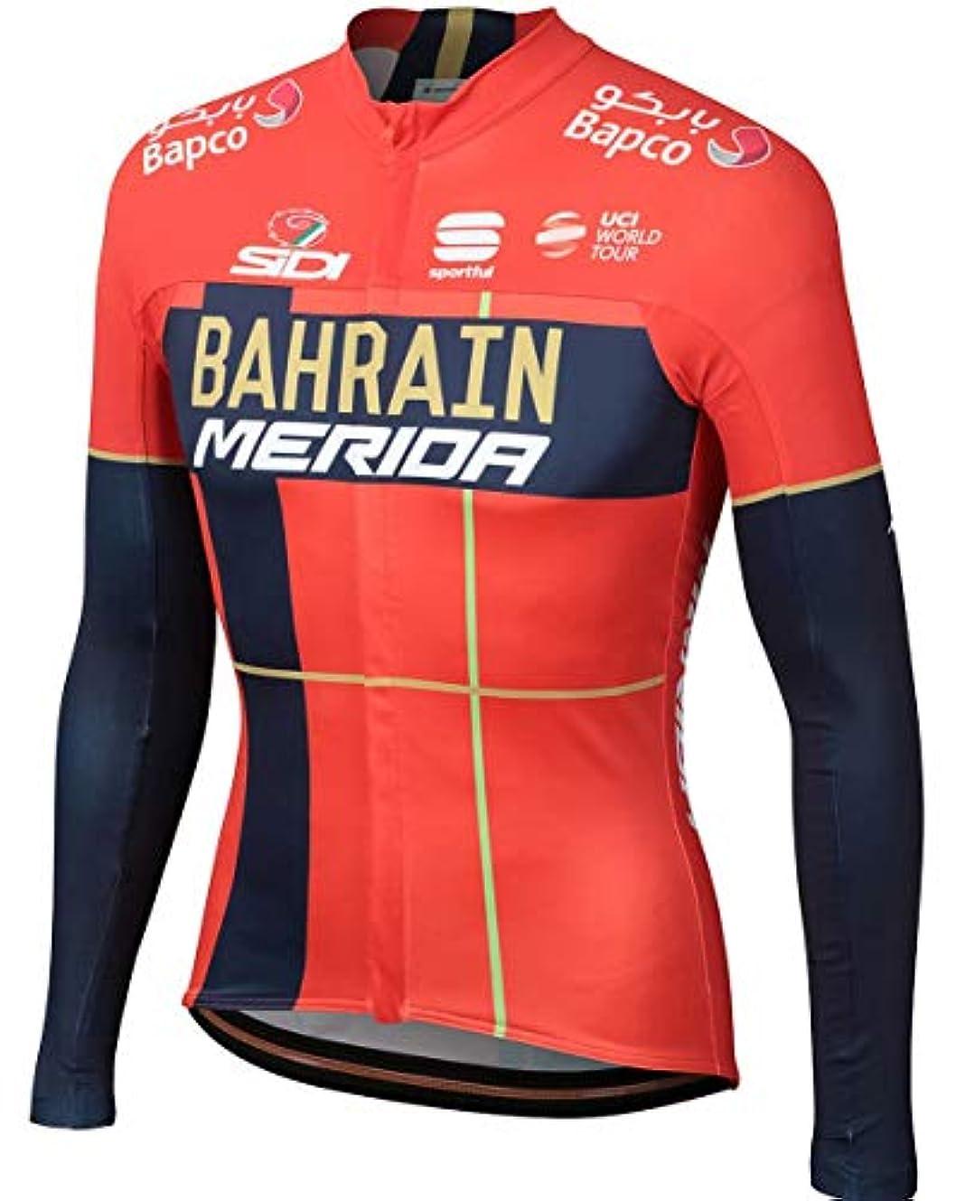 架空の適用する読者自転車ウェア 2019 Bahrain Merida Sサイズ 長袖ジャージ Bodyfit pro