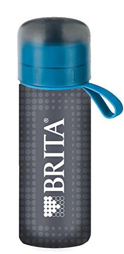 ブリタ 水筒 直飲み 600ml 携帯用 浄水器 ボトル カートリッジ 1個付き フィル&ゴー アクティブ ブルー 【ボトルカバー付き】 【日本仕様・日本正規品】