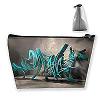 台形 レディース 化粧ポーチ トラベルポーチ 旅行 ハンドバッグ 抽象的デザインプリント コスメ メイクポーチ コイン 鍵 小物入れ 化粧品 収納ケース