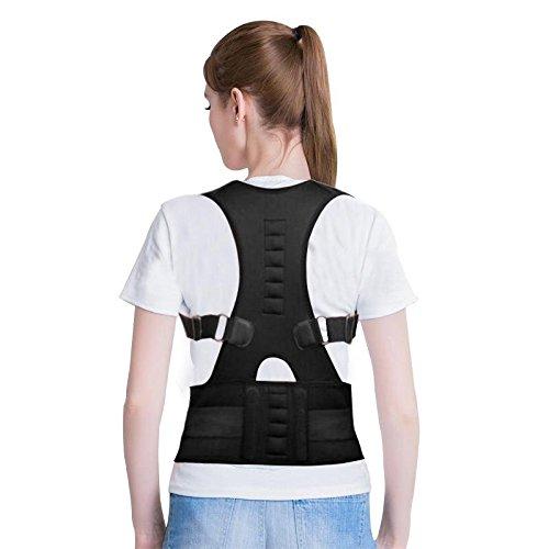 バックサポート、磁気バックショルダー腰部補正装置サポート姿勢修正ベルト (XL)