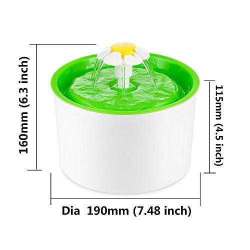 猫用自動給水器 ペット自動給餌機 フラワーファウンテン【猫/給水器/自動/水/かわいい/おしゃれ】