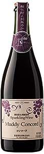 蒼龍葡萄酒 酸化防止剤無添加 スパークリング マディコンコード 750ml [日本/スパークリングワイン/甘口/フルボディ/1本]