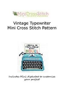 Vintage Typewriter Mini Cross Stitch Pattern by [Stitch, Pinoy]